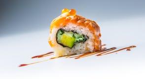 суши крена Конц-uo Филадельфии с соевым соусом Стоковая Фотография RF