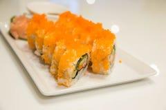 Суши крена огурца мяса краба яичка имитационные Стоковые Фото