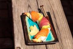 Суши крена дракона с семгами Стоковая Фотография RF