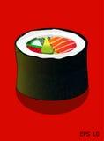Суши, крен Futomaki, иллюстрация вектора Стоковые Фото