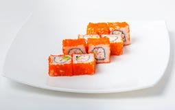 Суши на плите Стоковая Фотография RF