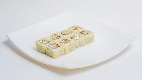 Суши на плите Стоковое Фото