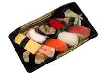 суши обеда коробки стоковое фото