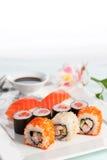 суши плиты Стоковые Фотографии RF