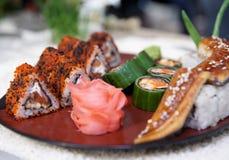 суши плиты maki Стоковые Изображения