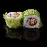 суши предпосылки черные Стоковая Фотография RF