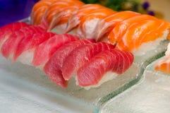 Суши семг и тунца Стоковое Фото