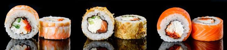 Суши соединяют японскую кухню, меню суш стоковое изображение