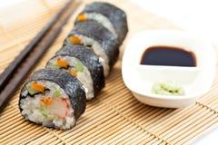 суши сои соуса крена Стоковая Фотография RF