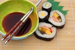 суши сои соуса Стоковая Фотография RF