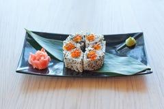 Суши с красной икрой Стоковое Изображение RF