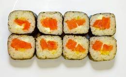 Суши с красными рыбами 2 Стоковое Фото