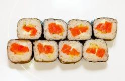 Суши с красными рыбами 5 стоковые фото