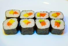 Суши с красными рыбами 7 стоковые фото