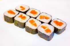 Суши с красными рыбами 12 Стоковое Фото