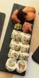 Суши с семгами и авокадоом Стоковое Изображение