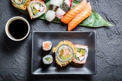 Суши с соевым соусом стоковое изображение rf