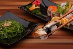 суши черной плиты Стоковое Изображение