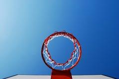 Суд баскетбола напольный Стоковое Изображение