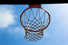 Суд баскетбола напольный Стоковая Фотография RF