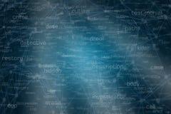 Судебнохимические термины и соединения анализа связи Стоковые Фото