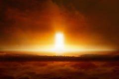 Судный День приходит, конец мира, входа к аду Стоковая Фотография RF
