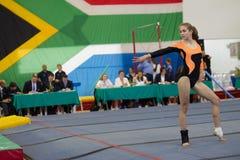 Судьи программы пола девушки гимнаста Стоковое Фото