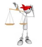 судья белого человека 3d. Стоковая Фотография