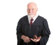 Судья с саном стоковое изображение rf