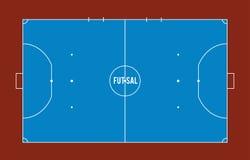 Суд Futsal или иллюстрация взгляд сверху поля Стоковые Изображения