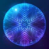 Сфера абстрактного вектора сияющая космическая иллюстрация штока