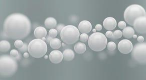 Сфера абстрактного футуристического полигона белые или предпосылка шарика иллюстрация вектора