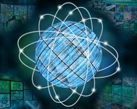 Сфера бинарного кода Стоковая Фотография RF