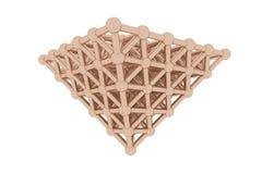 Сфера геометрическая, concepture конспекта предпосылки стиля молекулы блокировала пирамиды для дизайна, графического ресурса E иллюстрация штока