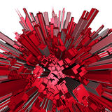 сфера глобуса города 3d Стоковые Изображения