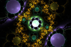 Сфера градиента фрактали фиолетовая иллюстрация вектора