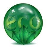 Сфера зеленого цвета Стоковые Изображения RF