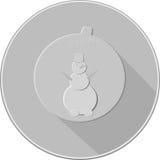 Сфера значка украшений рождества Стоковое фото RF