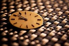Сфера золотых античных часов Стоковое Изображение