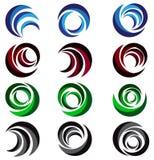Сфера, круг, логотип, глобальный, абстрактный, дело, компания, корпорация, безграничность, набор круглого дизайна вектора символа иллюстрация вектора
