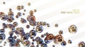 сфера металла абстракции 3d Стоковые Фото