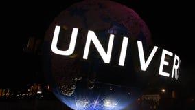 Сфера мира на Citywalk в районе студий Universal сток-видео