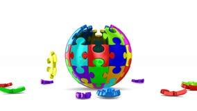 Сфера от головоломки на белой предпосылке 3d представляют иллюстрация штока