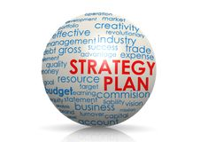 Сфера плана стратегии Иллюстрация штока