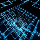 сфера сети иллюстрации предпосылки голубая Стоковые Изображения