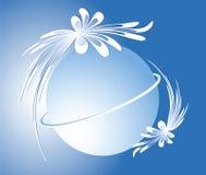 сфера сини предпосылки Стоковое Изображение RF