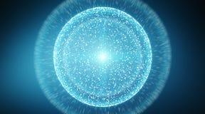 Сфера системы соединений и перевод обмен данными 3D Стоковое Изображение