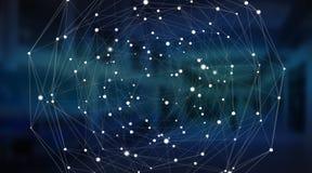 Сфера системы соединений и перевод обмен данными 3D Стоковая Фотография