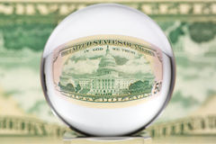 сфера стекла одного доллара Стоковое Изображение