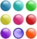сфера стекловидной иконы 3d установленная светя Стоковые Изображения